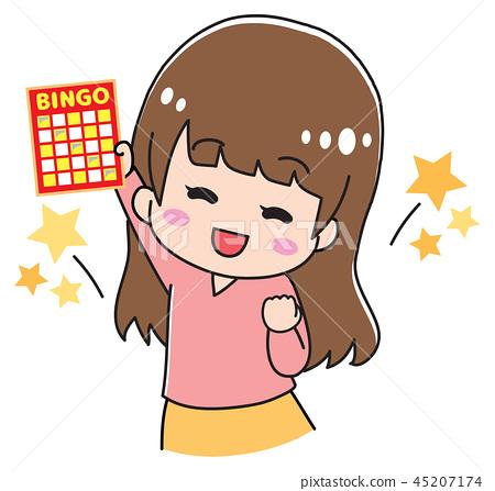 賓果遊戲卡的女孩 45207174