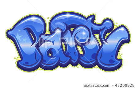Party word in graffiti style 45208929