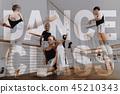 Ballet Bar Exercises Child Ballet Training. 45210343