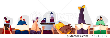 Back to college or students illustration 45210725