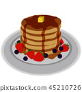 Pancake with syrup 45210726