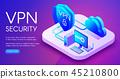 VPN security technology illustration 45210800