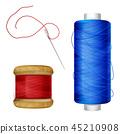 Thread spool and sewing needle illustration 45210908