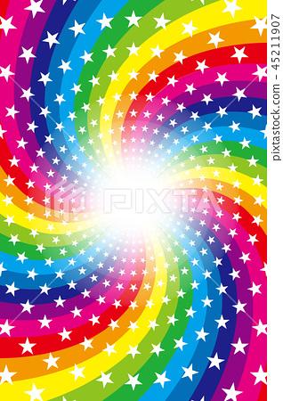 Background material, rainbow, rainbow, glitter star, swirl, radial, party, entertainment, happy, 45211907