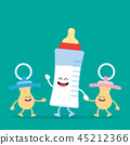 Funny Baby Milk Bottle and baby nipple 45212366