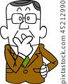 businessman, contemplation, worried 45212990