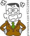 businessman, get angry, get mad 45212994