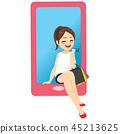 smartphone, fashion, girl 45213625