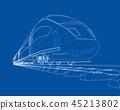 train, wireframe, railway 45213802