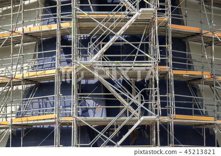 Construction site scaffolding 45213821