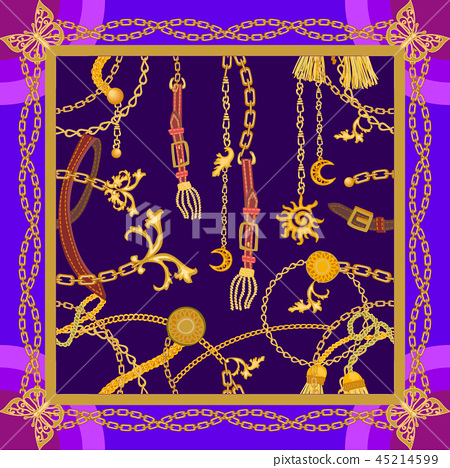 Silk scarf with Turkish motifs. 45214599