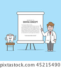 Lecture with Tooth & Doctor characters vector 45215490