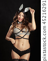 woman with rabbit ears 45216291
