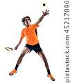 网球 抠图 白底 45217096
