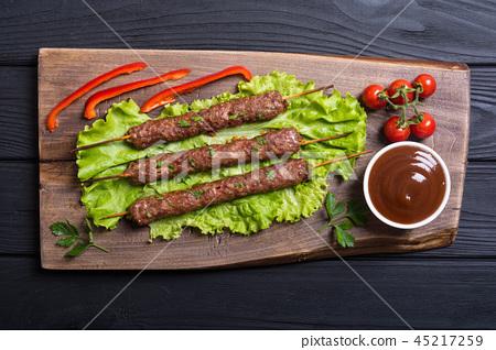 Shish kebab or lula-kebab 45217259