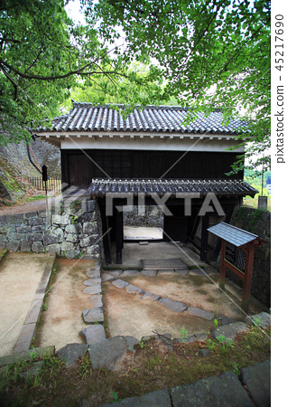 Kumamoto Castle incompetent gate before the Kumamoto earthquake 45217690