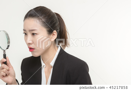 Korean career woman's various expressions and pose 45217858