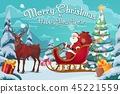 santa, christmas, vector 45221559