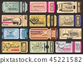 Vector admission tickets, baseball game 45221582
