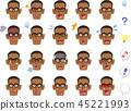 黑人 脸部 脸 45221993