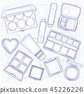 cosmetic, makeup, vector 45226226