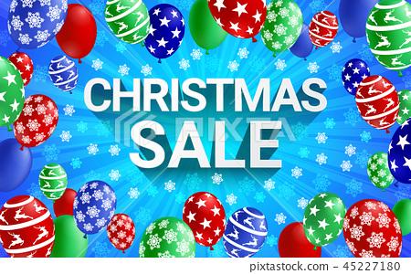 Christmas sale banner winter season. 45227180