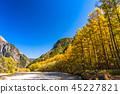 長野長野縣Kamikochi,Karamatsu和北阿爾卑斯山在秋天 45227821