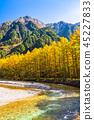 長野長野縣Kamikochi,Karamatsu和北阿爾卑斯山在秋天 45227833