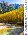 長野長野縣Kamikochi,Karamatsu和北阿爾卑斯山在秋天 45227834