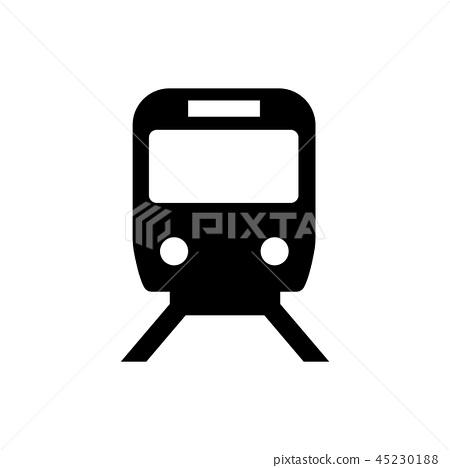 전철 · 철도 마크 / 안내도 용 기호 (픽토그램) 45230188