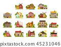 building, vector, house 45231046