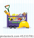 Set isolated icons set building tools. Vector  45233781