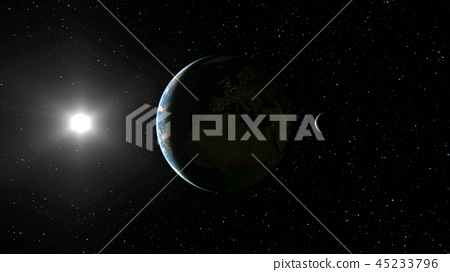 Space planet 45233796