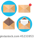 Flat envelope. Emailing and global communication 45233953