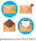 Flat envelope. Emailing and global communication 45233955