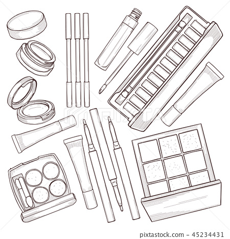 Sketch set of makeup products 45234431
