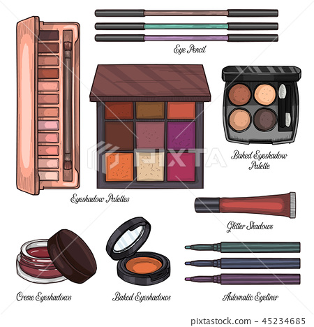 Sketch set of makeup products 45234685
