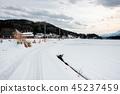 多雪的国家的风景 45237459