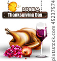 turkey thanksgiving wine 45237574