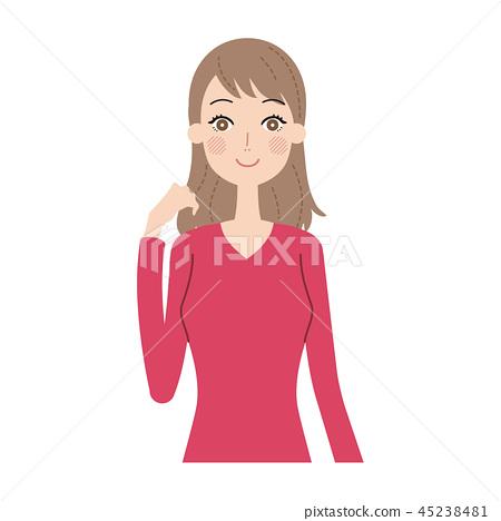 Female facial expression 45238481