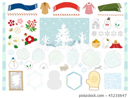 手繪冬季材料1 45238647