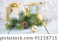 Christmas decorations on wooden background 45238715