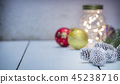 Christmas decorations on wooden background 45238716