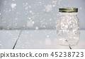 Christmas fairy lights in a mason jar 45238723