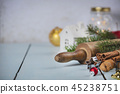 Christmas Baking background. Ingredients for Christmas cooking 45238751
