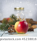 Christmas Baking background. Ingredients for Christmas cooking 45238816