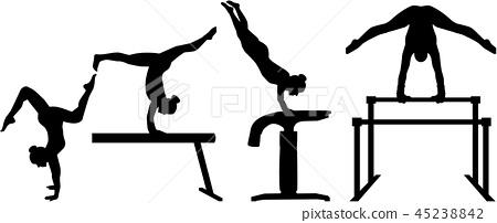Four-part competition gymnastics 45238842