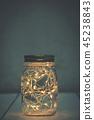 Christmas fairy lights in a mason jar  45238843