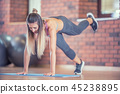woman fitness exercise 45238895