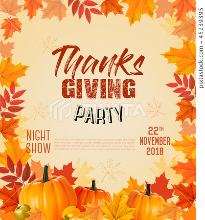 Happy Thanksgiving Party Flyer 45239395